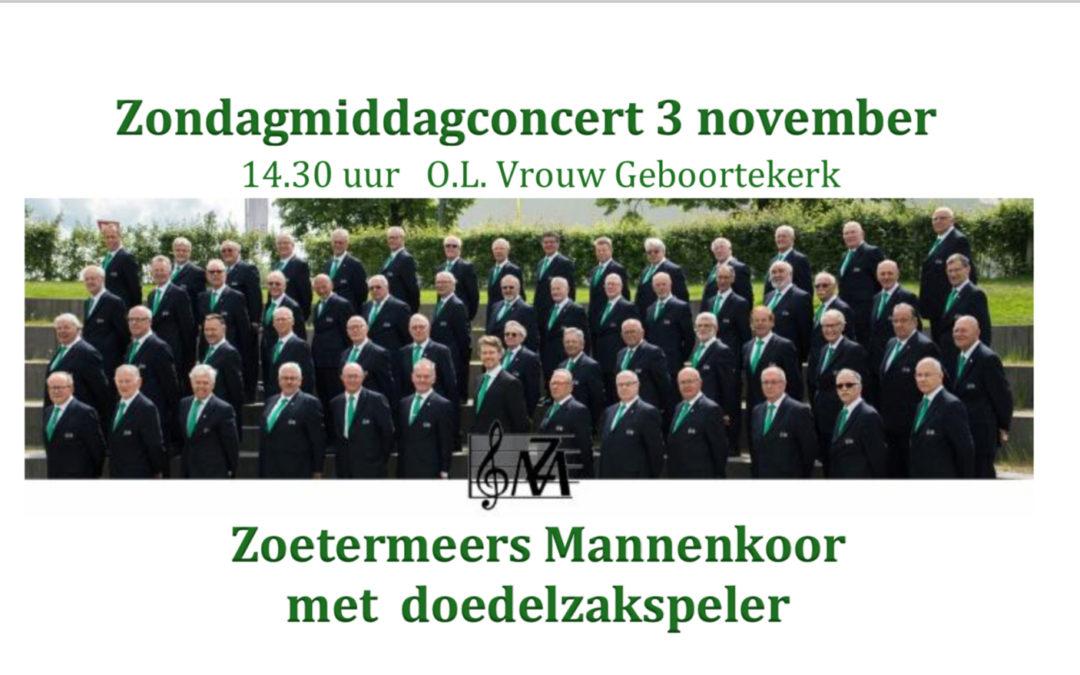 Groots Concert op 3 november