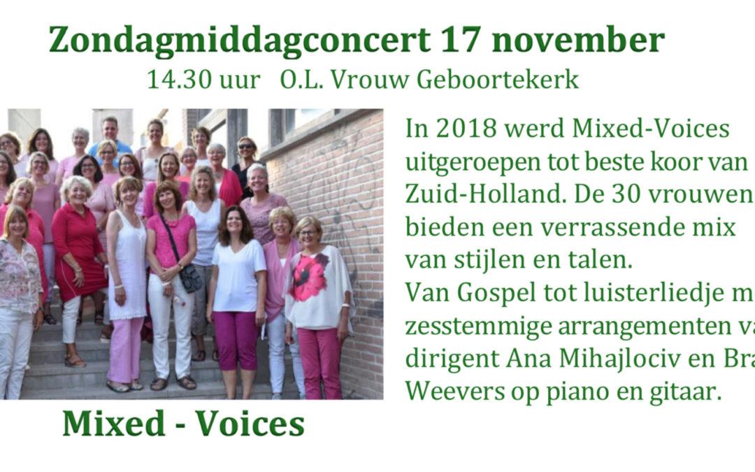 Zondagmiddag Concert 17 november
